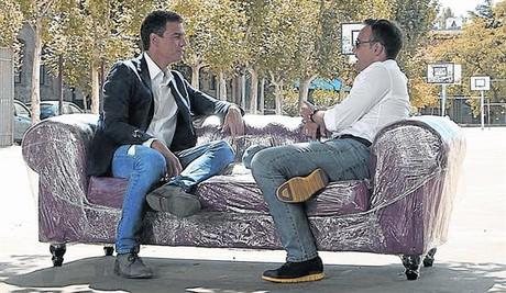 El popular comunicador entrevista esta noche al nuevo l�der socialista, Pedro S�nchez, y tambi�n a Sabina.