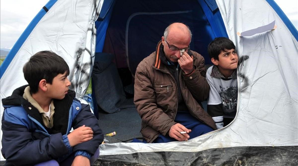 Nazim Serham, el refugiado sirio que ha decidido empezar unma huelga de hambre.