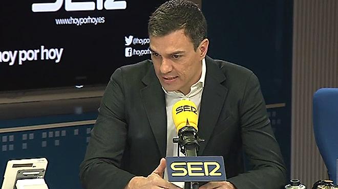 Pedro Sánchez adverteix a Podem que el pacte amb Ciutadans és condició necessària per a un govern del canvi.