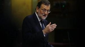 Mariano Rajoy comparece ante el pleno del Congreso.