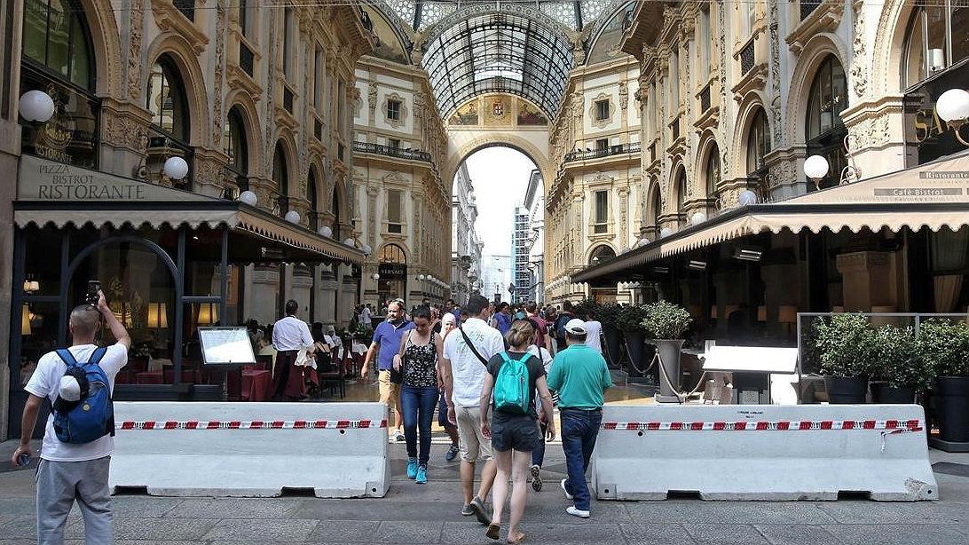 Italia siembra de bolardos sus lugares emblemáticos tras el atentado de Barcelona (ES)
