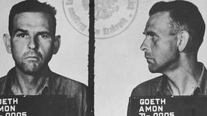 Ficha policial de Amon Göth, tras ser detenido en 1945 por los estadounidenses.