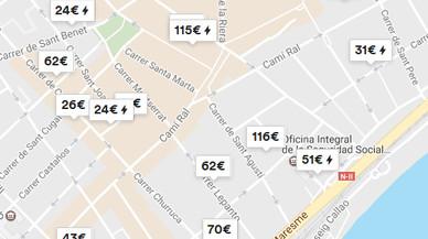Más de un 30% de los pisos que oferta Airbnb en Mataró no están registrados