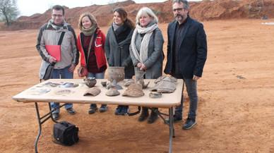 Descubren en Sabadell 56 estructuras de bronce de la edad de hierro