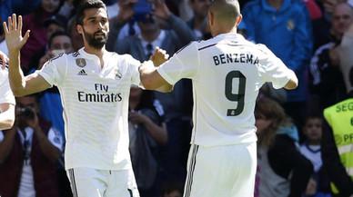 Álvaro Arbeloa y Karim Benzema.