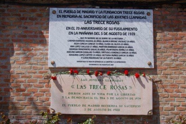 75 años del fusilamiento de las 'Trece Rosas'