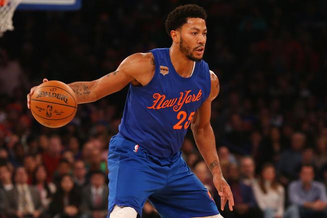 Derrick Rosa no se puso la camiseta de los Knicks porque no acudió al partido.