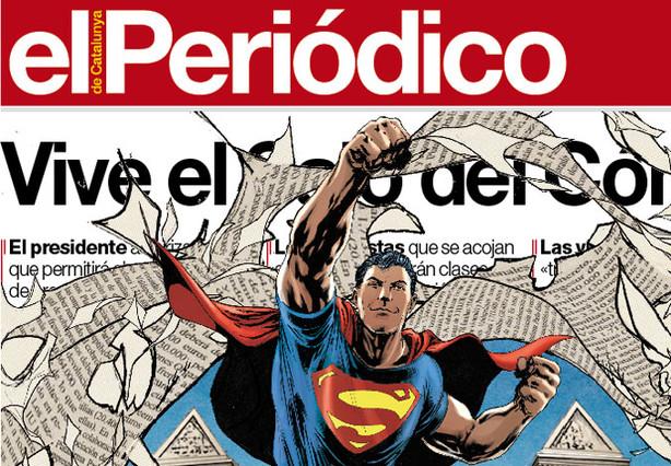 Batman y Superman protagonizan la portada de EL PERIÓDICO