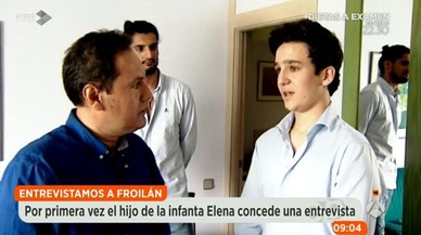 Froilà parla per primera vegada per televisió