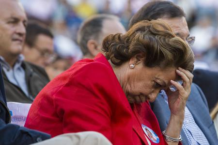 Rita Barberá, en un mitin del PP en Valencia.