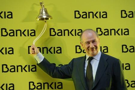 Rodrigo Rato, el d�a de la salida a bolsa de Bankia.