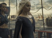 La actriz Emilia Clarke, como Daenerys Targaryen, en la serie 'Juego de tronos'.