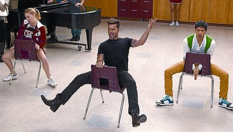 Una imagen de Ricky Martin en el episodio de la serie musical 'Glee'.