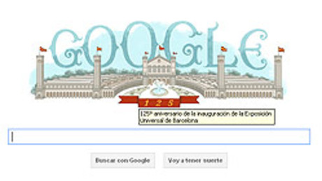 El 'doodle' de Google, dedicado a la Exposicin Universal de Barcelona.
