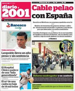 La portada de 'Diario 2001'.