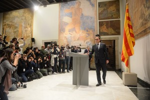Rueda de prensa de Artur Mas en la sala Torres Garcia