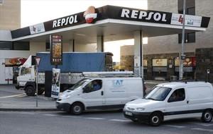 Colaboración 8 Oferta de El Corte Inglés en una gasolinera Repsol .