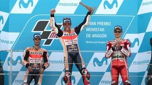 Pedrosa volvió al podio en Aragón