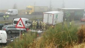 Un muerto y 13 heridos en un accidente multiple en Galisteo