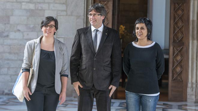 La CUP surt de la reunió amb Puigdemont sense assegurar-li els pressupostos ni BCN World
