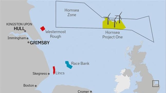 El Reino Unido construye el mayor parque eólico marino del mundo