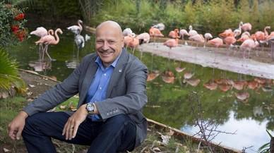 Gerald Dick, en el Zoo de Barcelona.