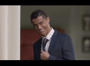 Cristiano Ronaldo, en un momento del anuncio