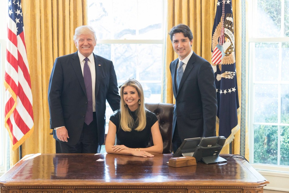 Ivanka Trump, en el Despacho Oval