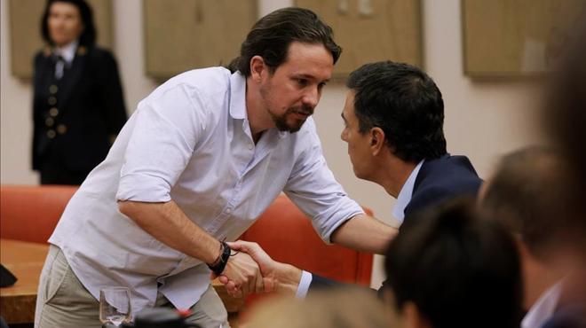 Sánchez i Iglesias contacten per Telegram després de segellar la pau de l'esquerra