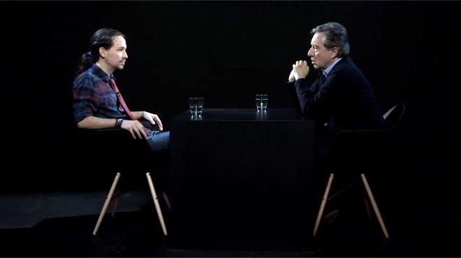 Pablo Iglesias con I�aki Gabilondo
