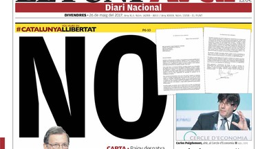 """""""La federació de futbol no veu problemes a anar amb estelades al Calderón"""", titula 'La Razón'"""