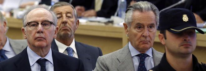 Rato y Blesa, durante el juicio por las 'tarjetas black'