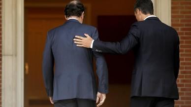 El PSOE aparca les crítiques a Rajoy per lluir unitat contra l'1-O