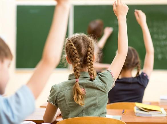 Alumnos en el aula de un colegio