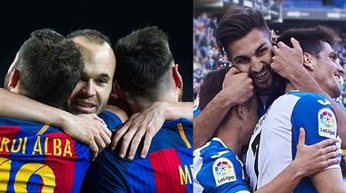 L'Espanyol supera el Barça en el derbi dels planters