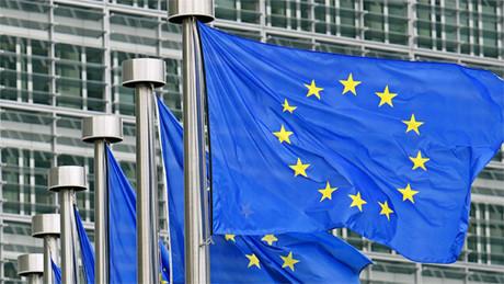 La bandera europea ondea en Bruselas