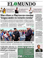 """""""Mas ofrece a Marruecos ense�ar lengua �rabe en horario escolar"""", titula 'El Mundo'"""