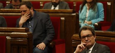 CiU y ERC sellan las cuentas, rechazadas por toda la oposici�n