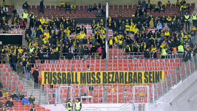 Las protestas de los aficionados del Dortmund