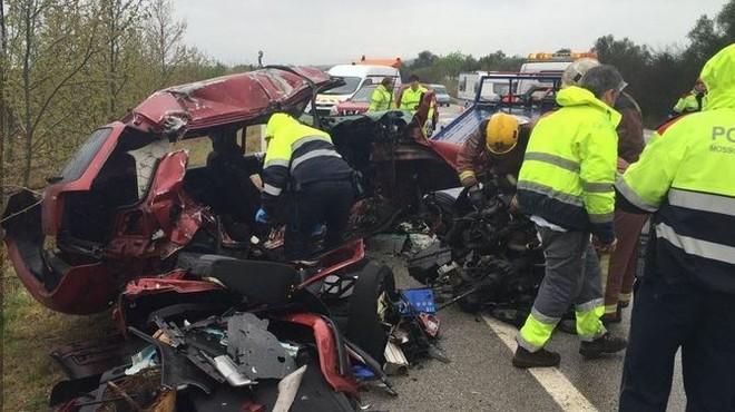Sis de les set víctimes mortals de l'accident de Figueres anaven sense cinturó de seguretat