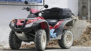 El quad que conducía Ángel Nieto.