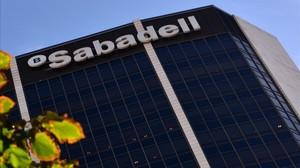 Sede central del Banc Sabadell, en Barcelona.