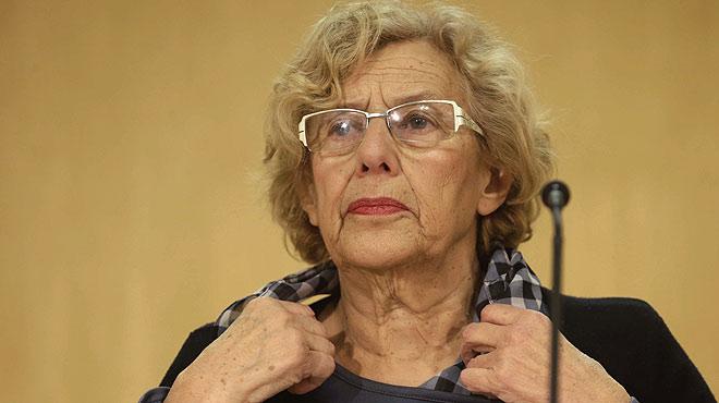 Manuela Carmena, alcaldesa de Madrid, ha comparecido para dar explicaciones sobre el espect�culo de t�teres que se program� durante las fiestas de Carnaval de la ciudad y que termin� con dos encarcelados por enaltecimiento del terrorismo.
