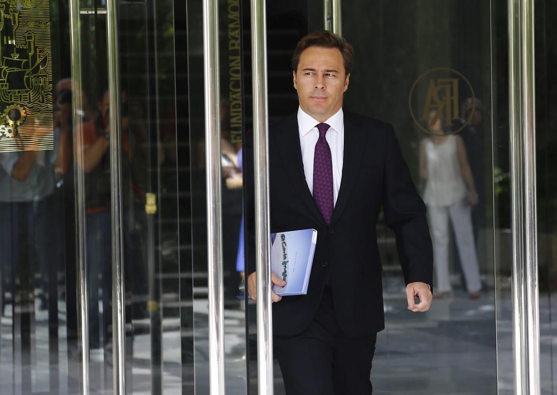 Dimas Gimeno, presidente de El Corte Ingl�s, este domingo, en la junta de accionistas.