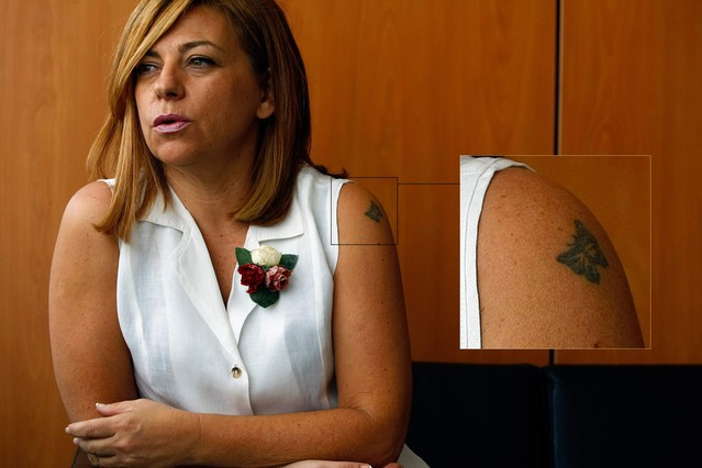 El 'tatu' de Elena Valenciano