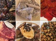 Seis de los platos de la cocina navarra de los que ha dado cuenta Carlos Herrera entre la noche del martes y el mediod�a del mi�rcoles.