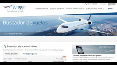 Europair Jets App para vuelos privados