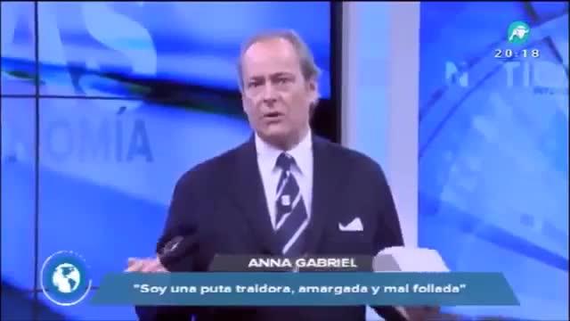"""Un presentador d'Intereconomía: """"Puta i malfollada"""" li van com l'anell al dit a Anna Gabriel"""
