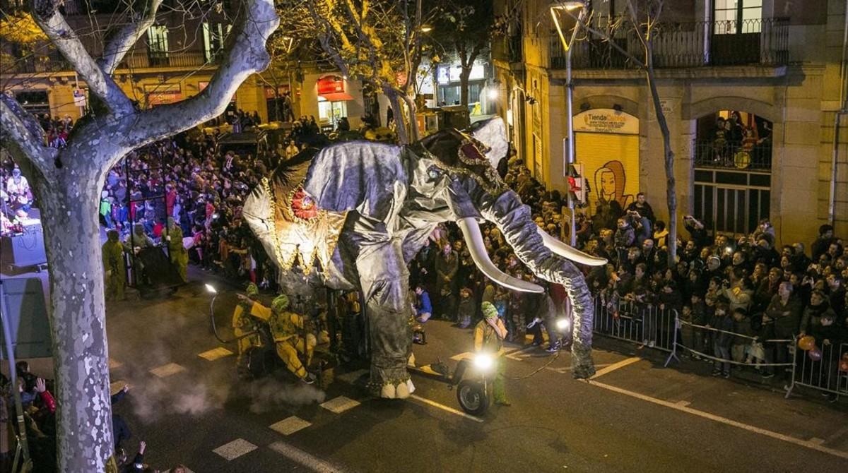 Resultat d'imatges de cavalcada barcelona 2017