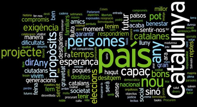 País, Catalunya y personas, las palabras más utilizadas por Mas en el discurso de fin de año